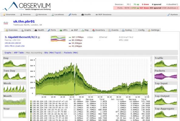 Monitoraggio Server Linux con Observium